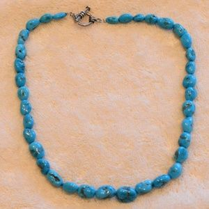 Handmade nugget turquoise necklace
